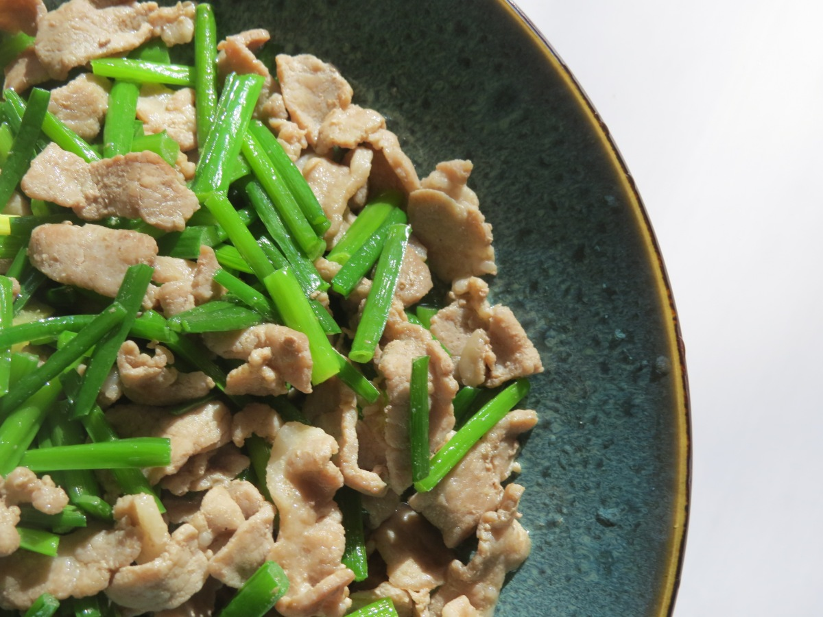 Slivered Pork with Chives